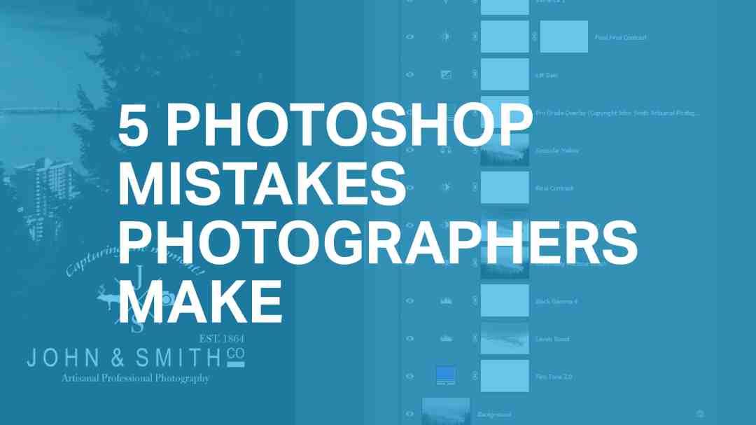 5 gebruikelijke Photoshop foutjes