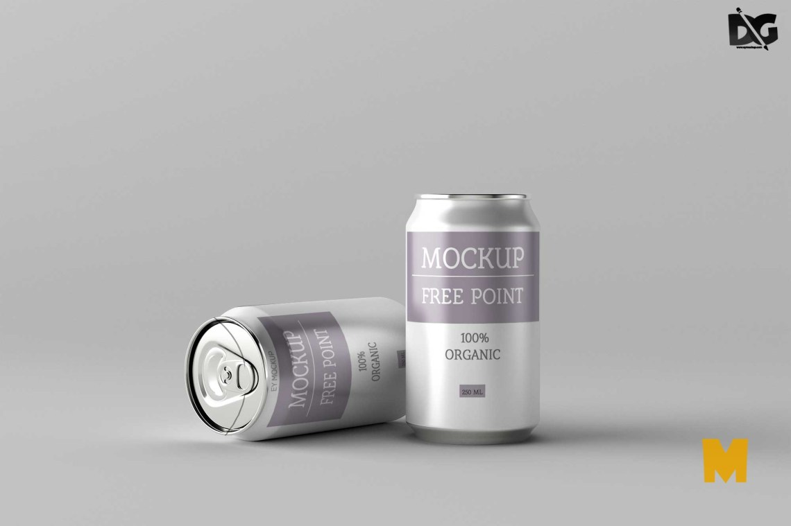 Download Free Beer Can Label Packaging Mockup PSD Mockup | Free Mockup