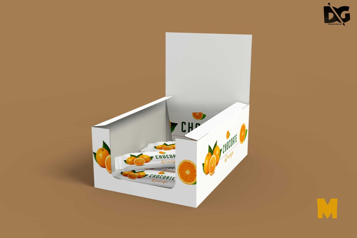 Download Free Chocolate Box Packaging Mockup