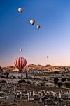 Sunrise balloons flying