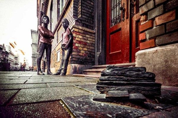 I ragazzi della via Pàl, Budapest Statue dei fratelli Pasztor