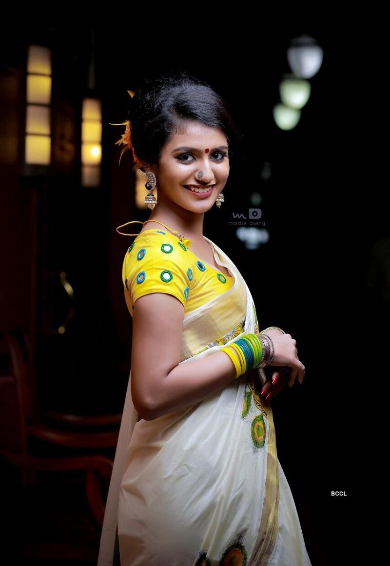 Actress Priya Prakash in Hot Saree Look