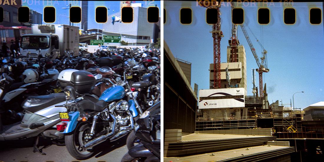Bike parking/Construction, Kodak Instamatic 133, Kodak Portra 160