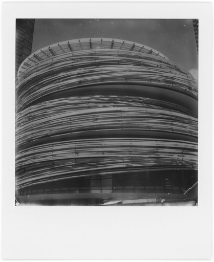 Bamboo Architecture, Polaroid SX-70, Polaroid Originals B&W SX-