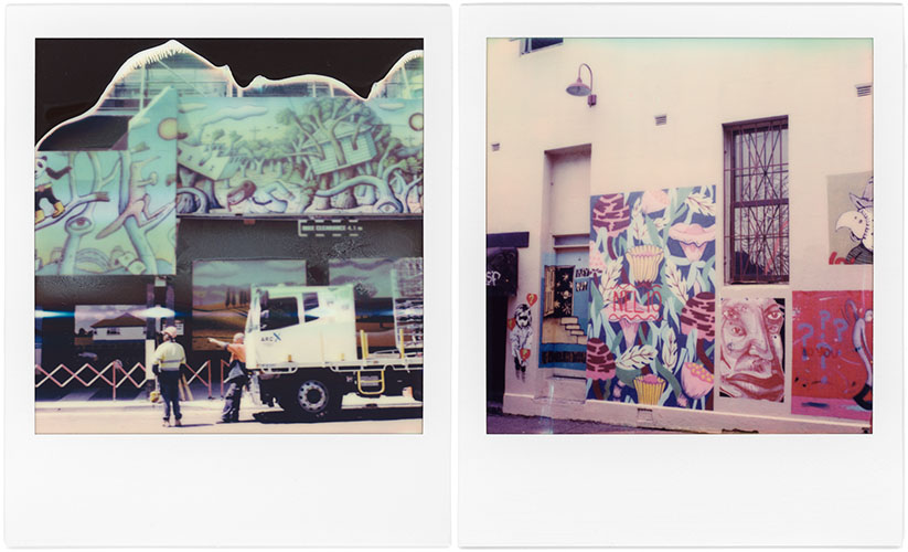 Street Art, Polaroid SX-70, Polaroid Originals Color SX-70