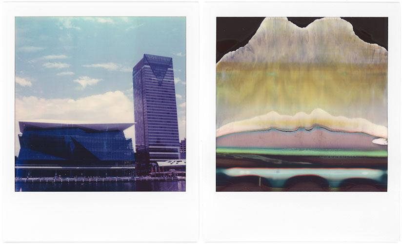 L: Darling Harbour, R: Polaroid Art, Polaroid SX-70, Polaroid Originals Color SX-70