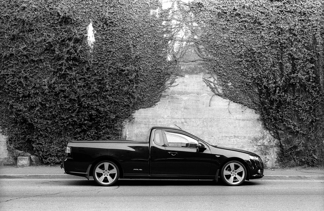 Ford ute at the Rocks, Nikon F2, Nikkor-H 50mm f/2 Auto, Kentmere 400