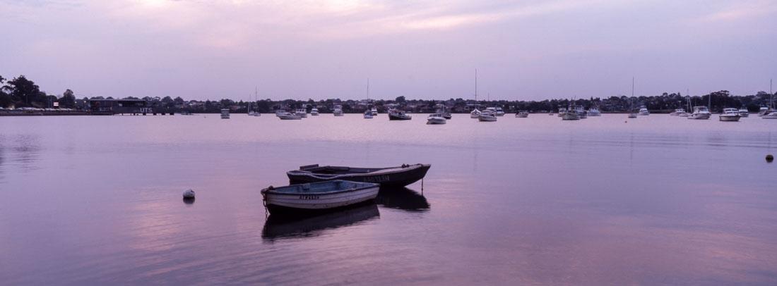 Boats in Lilyfield   Hasselblad XPan, 45mm   Kodak Ektachrome E100
