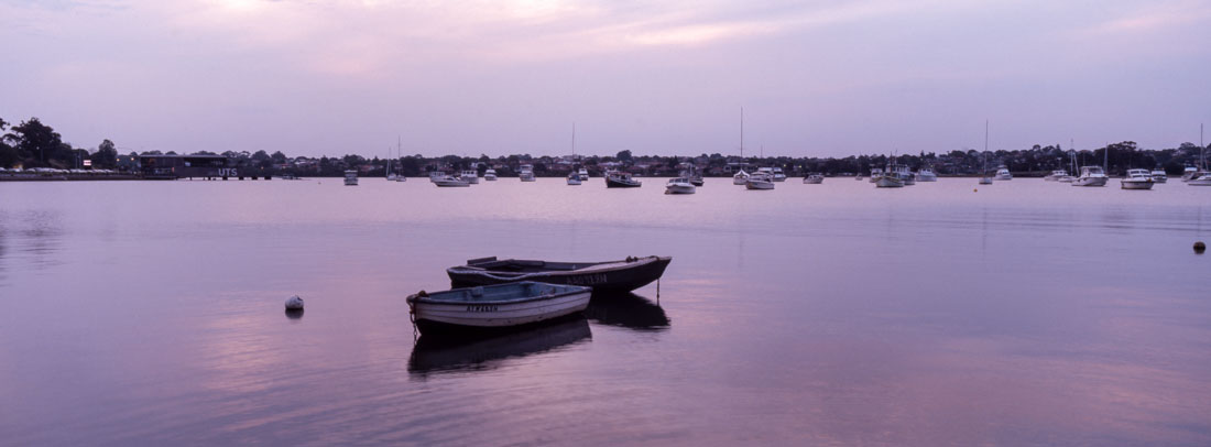 Boats in Lilyfield | Hasselblad XPan, 45mm | Kodak Ektachrome E100