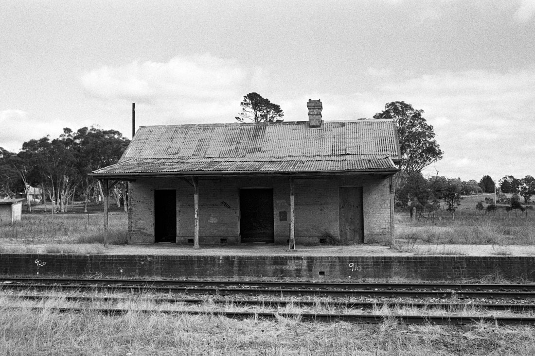 Abandoned train station, Ben Bullen | Nikon FM2n | Nikkor 35mm f/2.8 Ai | Ilford HP5+ 400