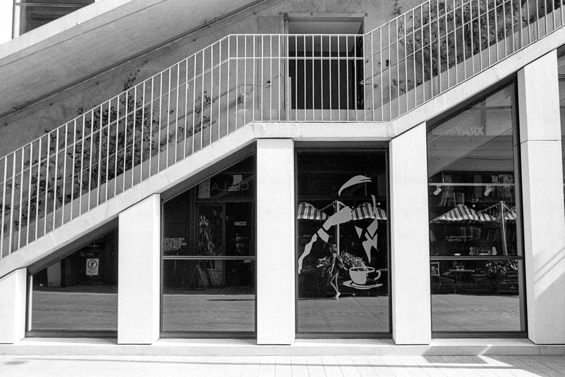 Stair way, Barangaroo, Sydney | Nikon FM2n | Nikkor 35mm f/2.8 Ai | Kodak Double X 200