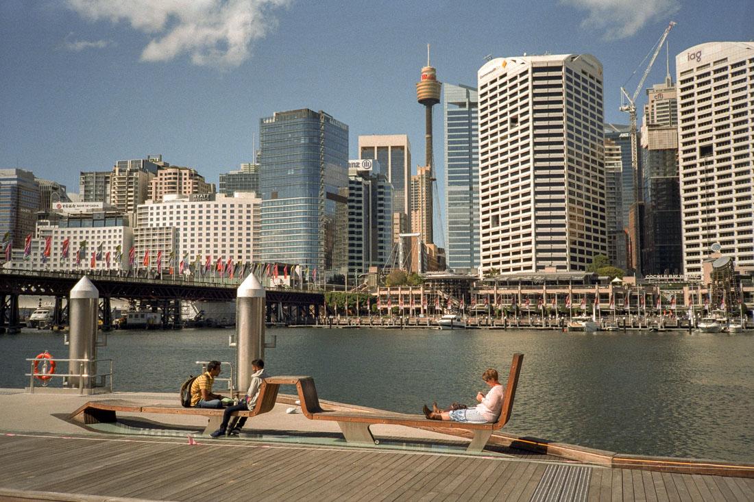 Lounging in the city | Nikon L35AF | Kodak Pro Image 100