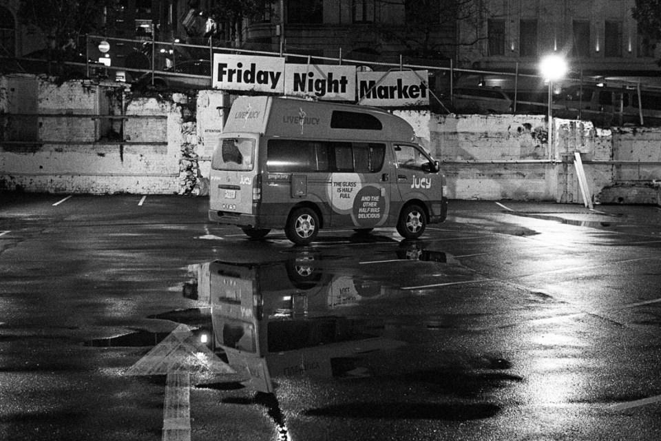 Jucy van at Friday Night Market | Leica M2 | Canon 50mm f/1.8 LTM | Kodak T-Max P3200