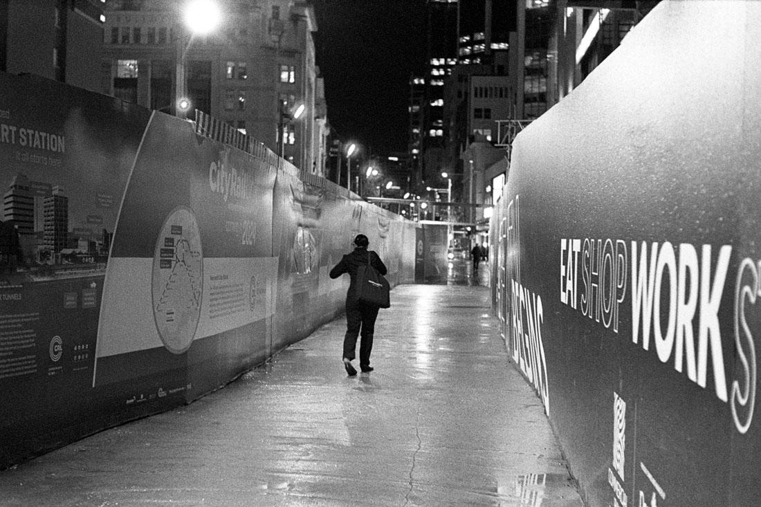 Lone walker   Leica M2   Canon 50mm f/1.8 LTM   Kodak T-Max P3200