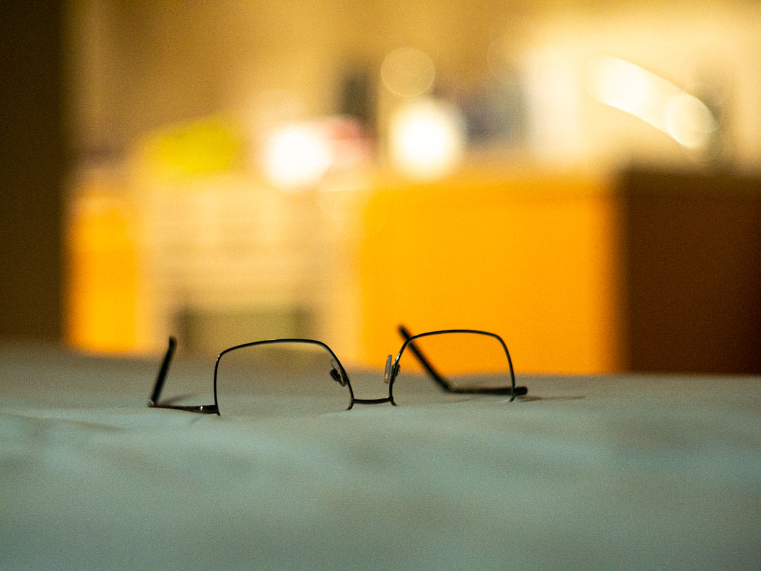 Reading glasses | Panasonic GX7 | Canon 50mm f/1.8 LTM | ISO 3200