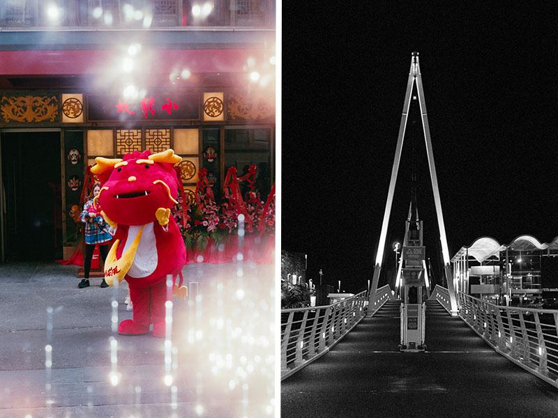 L-R Dragon, Bridge | L-R Leica IIIf, Leica M2 | Canon 50mm f/1.8 LTM | L-R Fujifilm Industrial 400, Kodak T-Max P3200