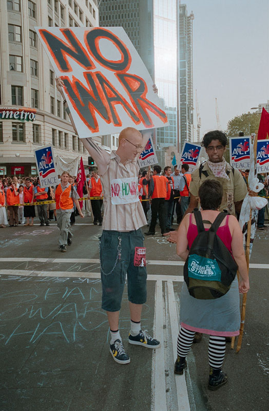 Anti Iraq War Protest, Sydney, 2003 | Nikon F5 | Fujifilm Press 800