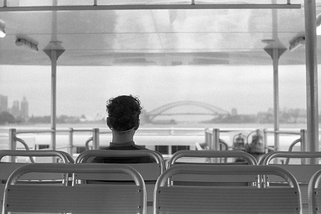 Looking out from the ferry | AGFA Karat 36 | Kodak Tri-X 400
