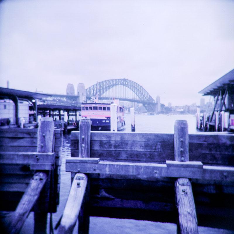 Circular Quay, Sydney | Holga 120N | Lomograhy Lomochrome Purple