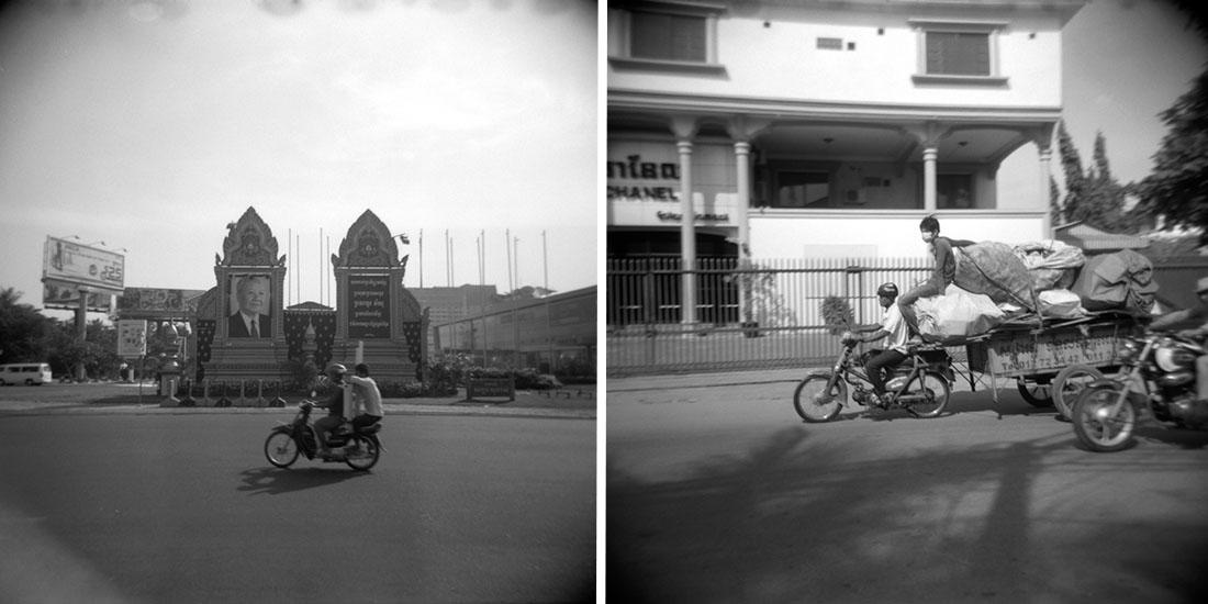 Motorcycle riders   Holga 120N   Kodak Tri-X 400