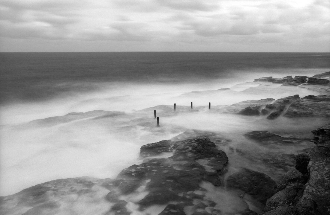 Coogee South Rock Pool | Nikon F3 | Nikkor 28mm f/2.8 Ai | Kodak T-Max 100