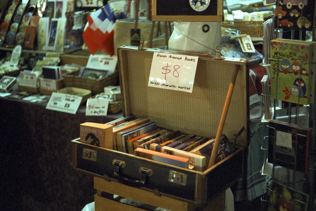French themed books | Leica M3 | Leitz Summicron 5cm f/2 DR | Cinestill 800T