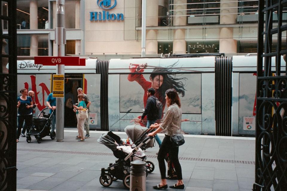 Sword on a tram | Pentax Espio 80V | Kodak Portra 400