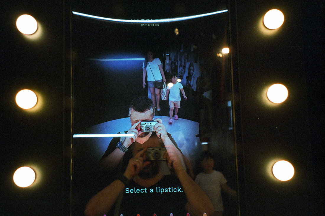 Select a lipstick – weirdest camera selfie! | Pentax Espio 80V | Kodak Ultramax 400