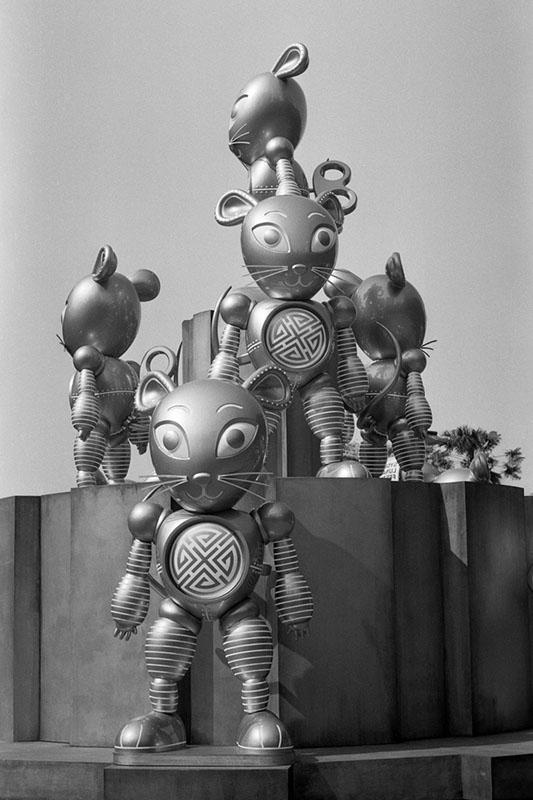 Robot Mice | Topcon RE Super | Topcor 3.5cm f/2.8 RE Auto | Ilford FP4 Plus