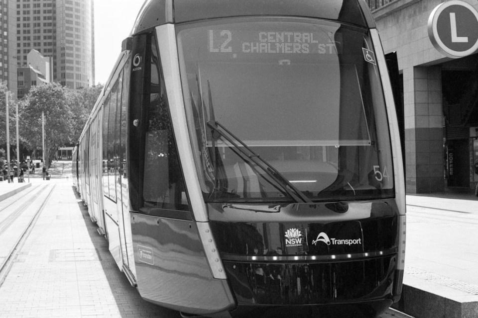 Sydney Tram | Topcon RE Super | Topcor 58mm f/1.4 RE Auto | Ilford FP4 Plus