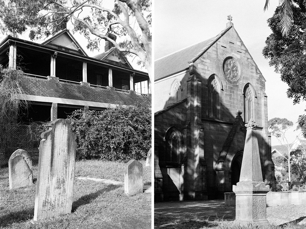 Camperdown Cemetery | Topcon RE Super | Topcor (1) 3.5cm f/2.8 (2) 58mm f/1.4 RE Auto | Fujifilm Neopan 400 (Presto)