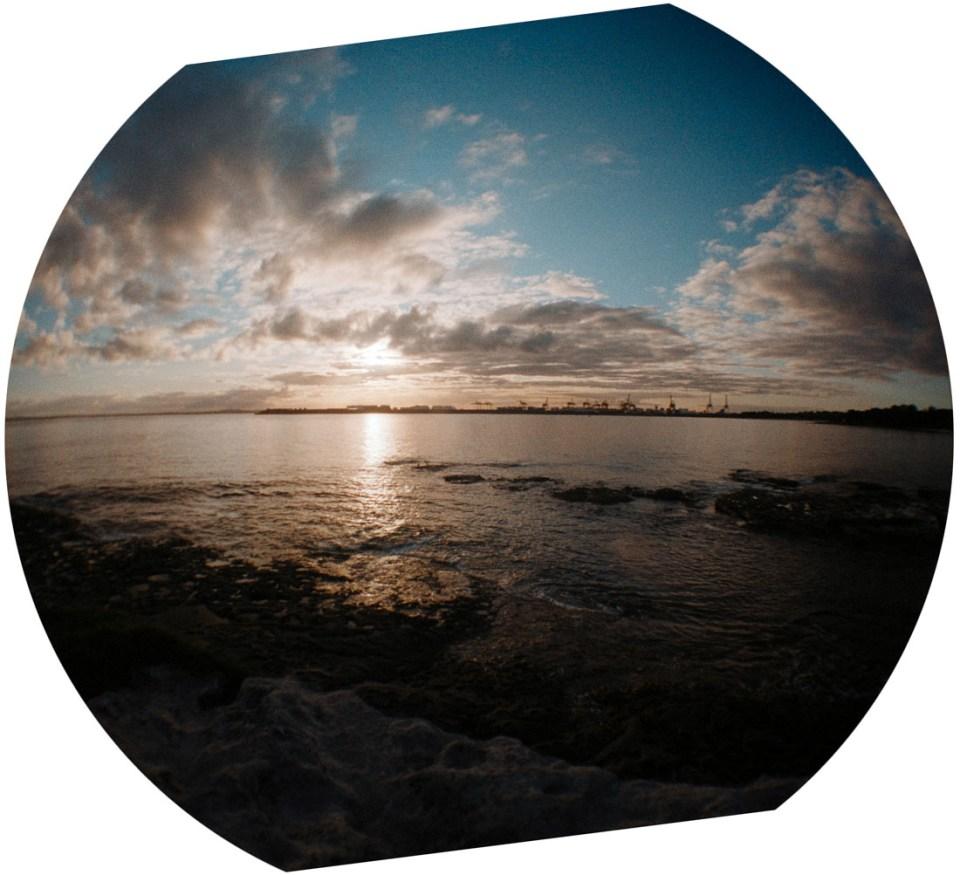 Sunset in La Perouse | Lomography Fisheye 2 | Kodak Pro Image 100