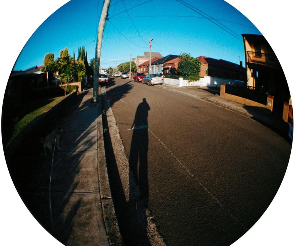 Long evening shadow | Lomography Fisheye 2 | Kodak Pro Image 100