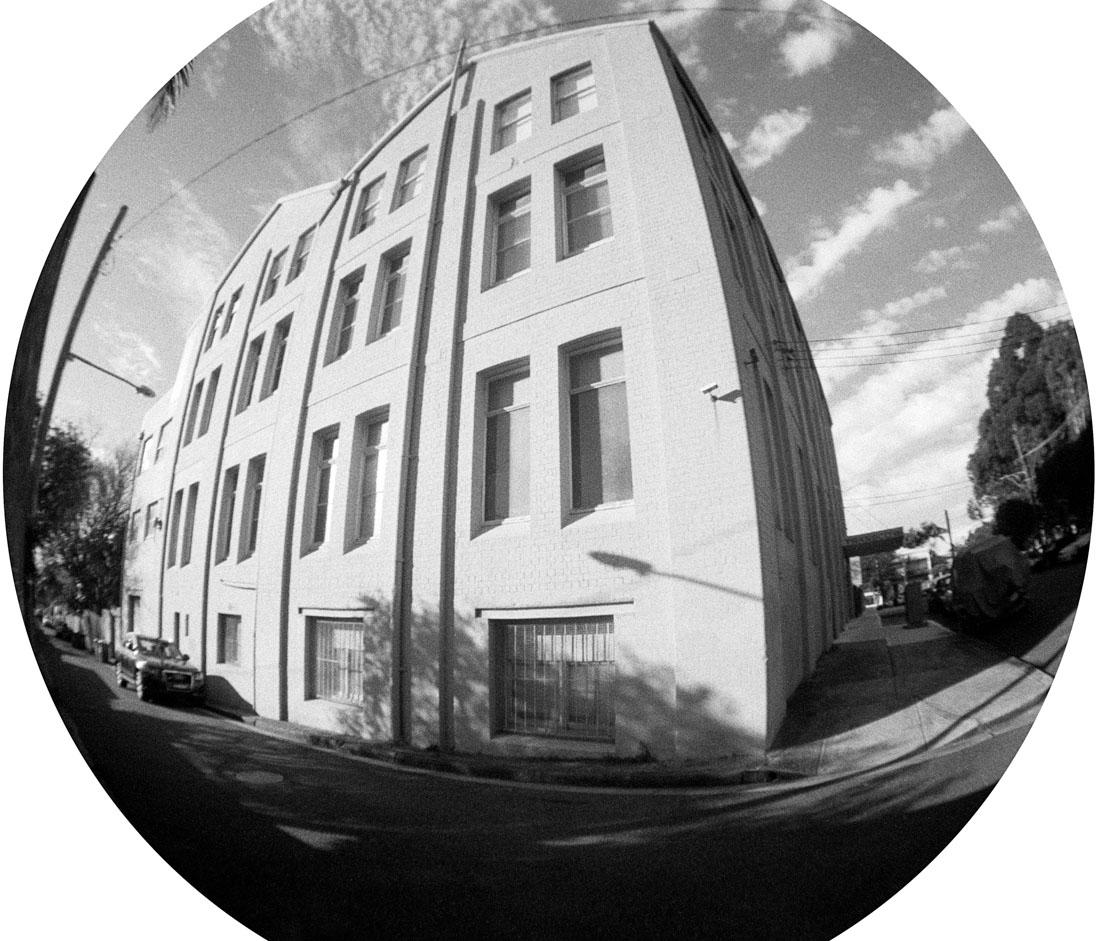 Building | Lomography Fisheye 2 | Ilford HP5 Plus