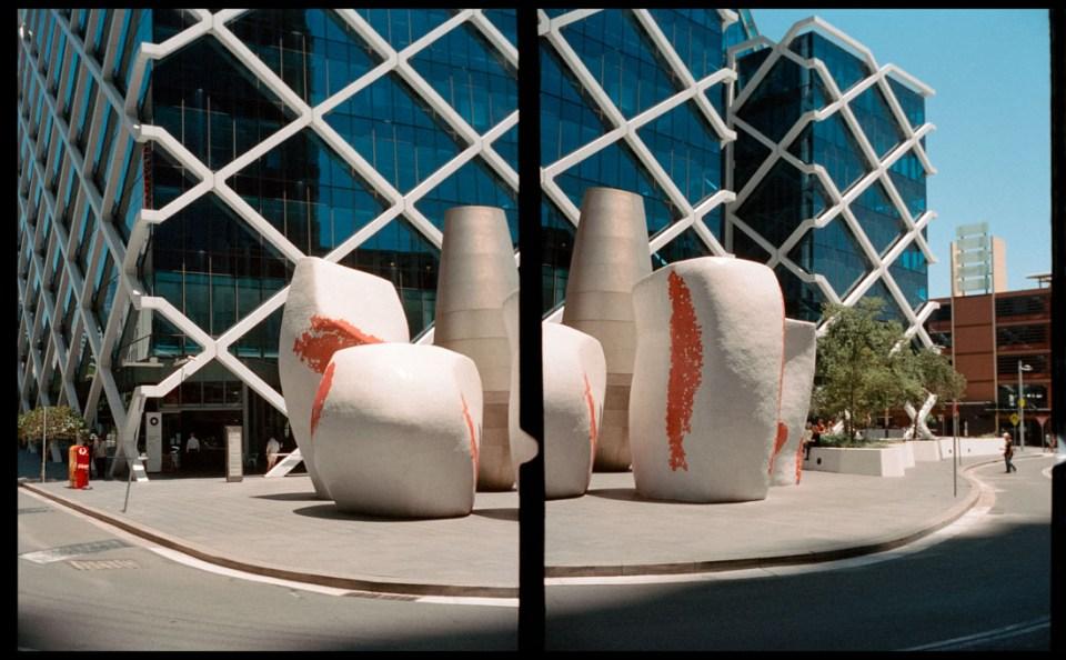 Sculpture, diptych | Agfa Optima-Parat | Kodak Portra 400