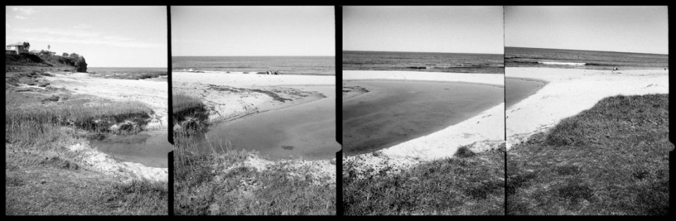 Coledale Beach, quadriptych | Agfa Optima-Parat | Ilford FP4 Plus