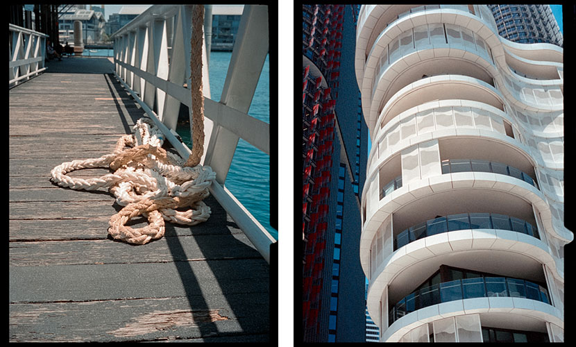 Rope (l), Apartment building (r) | Agfa Optima-Parat | Kodak Portra 400