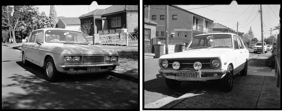 Cars | Agfa Optima-Parat | Ilford FP4 Plus