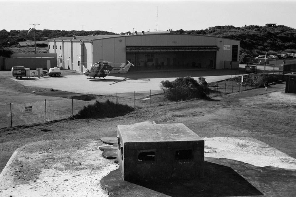Westpac Rescue Helicopter base | Voigtländer Bess I | Kodak Tri-X