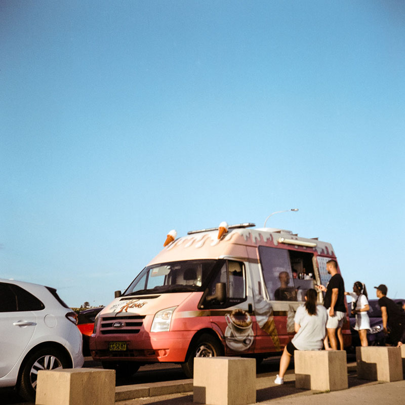 Ice Cream van | Bolseyflex | Kodak Portra VC 160 (expired)
