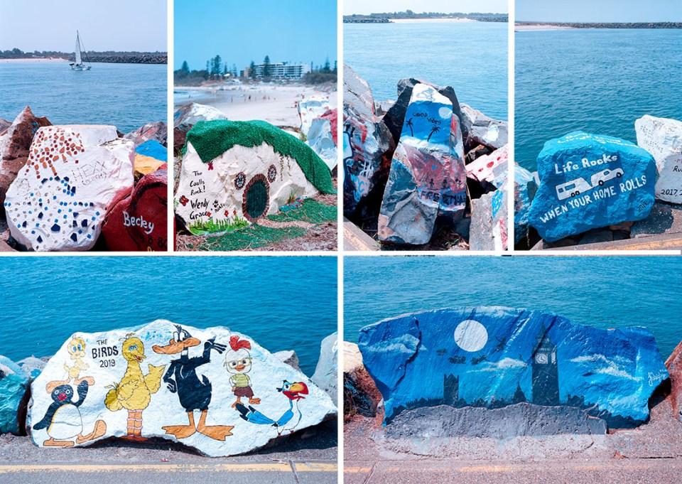 Painted rocks at Port Macquarie | Nikon F100 | Nikkor 28-105mm 1:3.5-4.5 AF D |Kodak Ektar 100