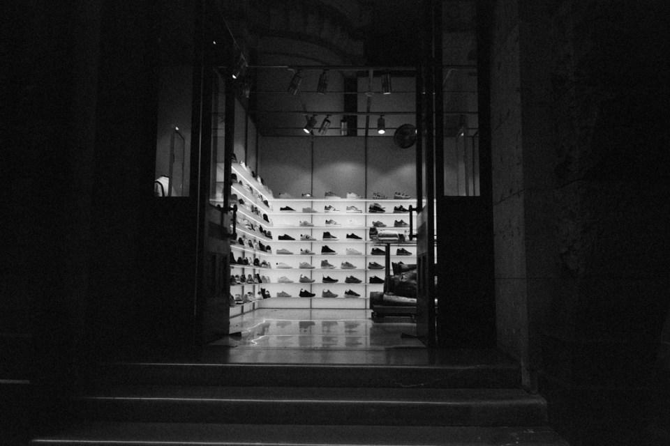 Sports shoe shop | Mamiya Press Super 23 | Sekor Seikosha-S 65mm f/6.3 | Kodak Tri-X @ EI 1600