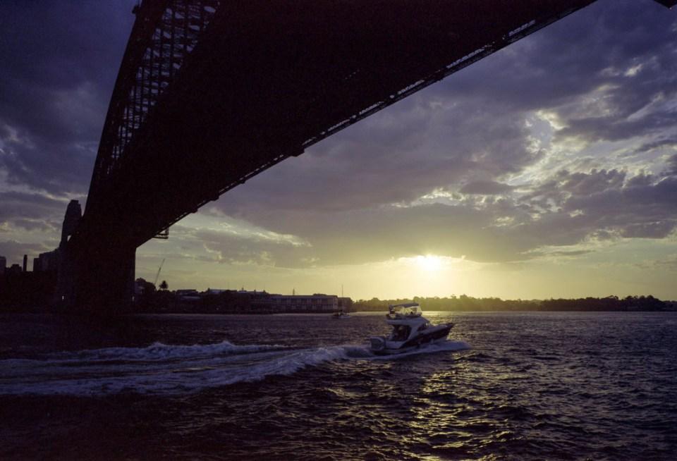 Sunset under the Bridge | Mamiya Press Super 23 | Sekor Seikosha-S 65mm f/6.3 | Kodak Portra 160 VC (Expired 2013)