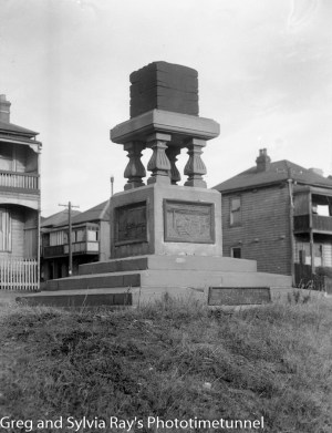 Newcastle's Jubilee coal monument in the city's east. March 29, 1945.