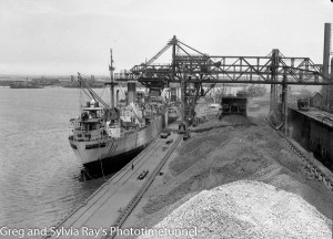 Ship Baron Elphinstone at BHP Steelworks, Newcastle, on January 11, 1946.