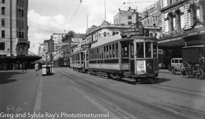 Tram in Auckland, New Zealand.