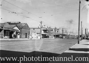 Street scene in Carrington, Newcastle, NSW, January 31, 1937.
