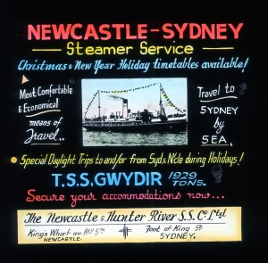 By steamer overnight to Sydney