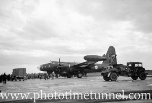 Lockheed P-2 Neptune at an air show at RAAF Williamtown fighter base, near Newcastle, NSW, in the early 1960s. (2)