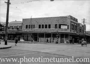 Chemist store under construction in Hamilton, June 14, 1940.